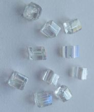 Cube Bead AB finish 4mm x 20